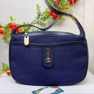 HP⚡️Vintage Gucci Navy Microguccissima Bag